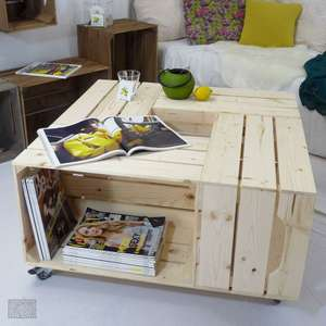 Table basse (caisses en bois), kit à assembler (simplyabox.fr)