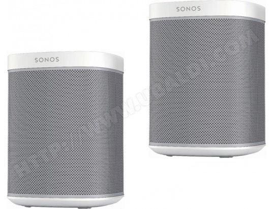 Pack de 2 enceintes sans fil Sonos Play:1 - Blanc