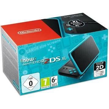 Console New Nintendo 2DS XL - noire & turquoise