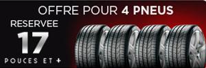 50€ pour l'achat et la pose de 2 pneus Pirelli