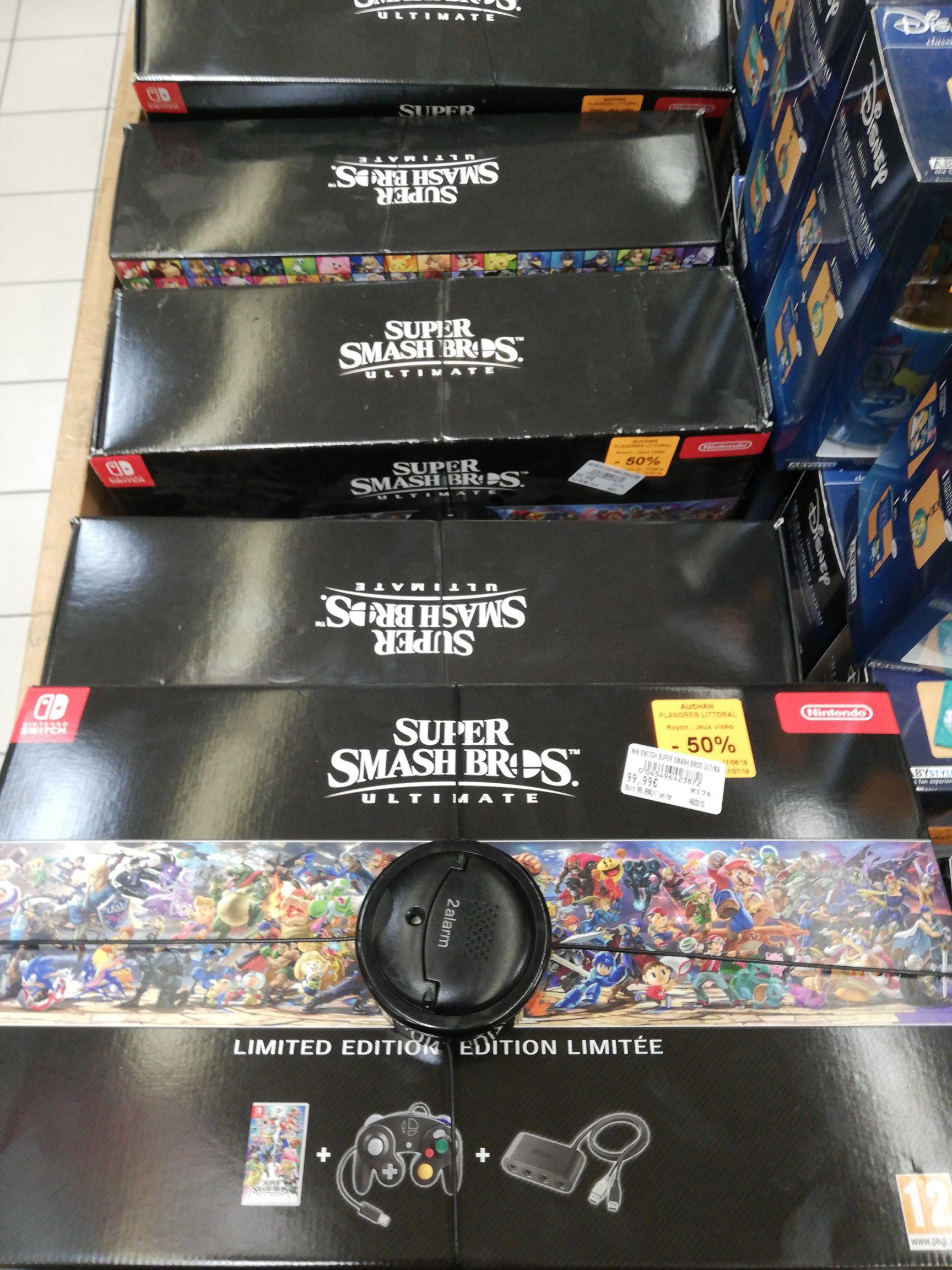 Pack Super Smash Bros. Ultimate sur Nintendo Switch (jeu, manette, adaptateur) (Grande-Synthe 59)