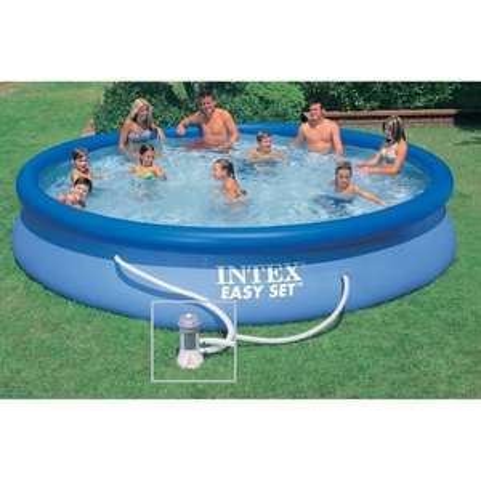 Kit piscine ronde autoportée Intex Easy Set - 457,2 x 83,82 cm