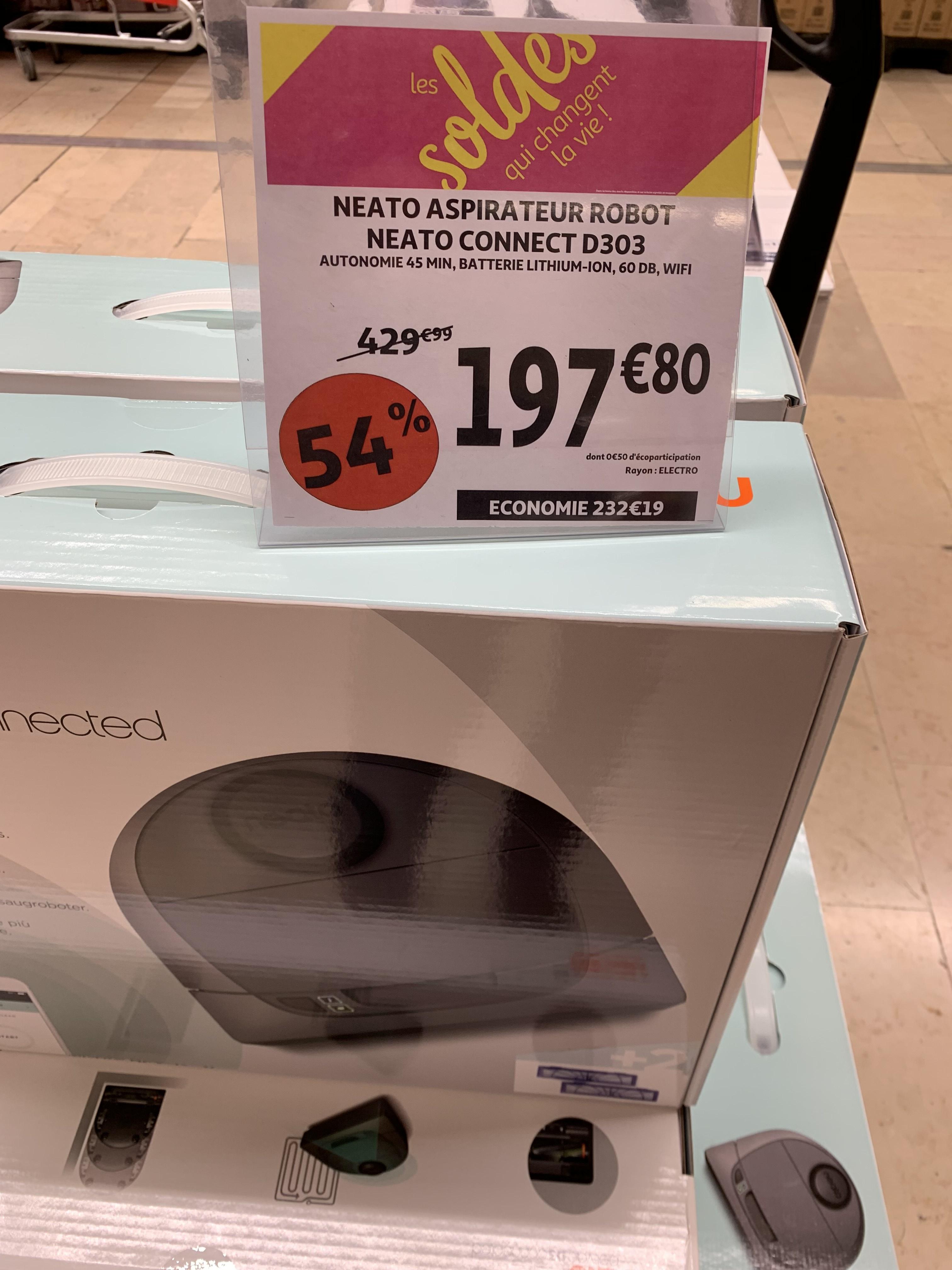 Aspirateur robot Neato D303 - Auchan de Vélizy villancoublay (75)