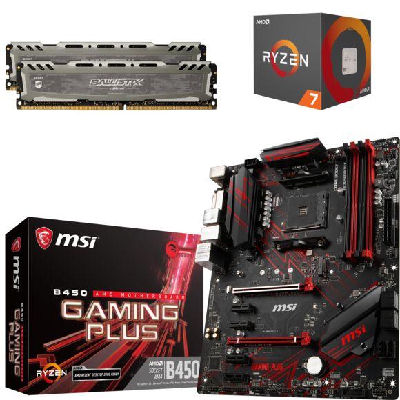 Kit Processeur AMD Ryzen 7 2700 (3 2 GHz) + RAM Ballistix