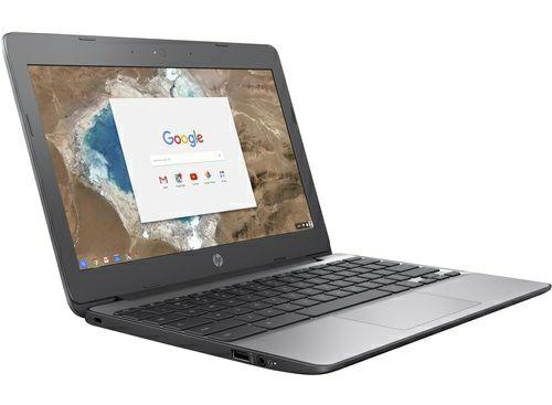"""PC Portable 11"""" HP Chromebook 11-v001nf - HD, Celeron N3060, 4 Go de RAM, 16 Go eMMC, Chrome OS, Gris cendré"""