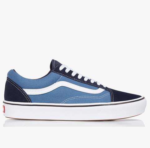 Chaussures Vans Old Skool - Cuir Bleu