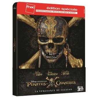 Blu-ray 3D + 2D Pirates des Caraïbes La vengeance de Salazar - Edition spéciale Steelbook