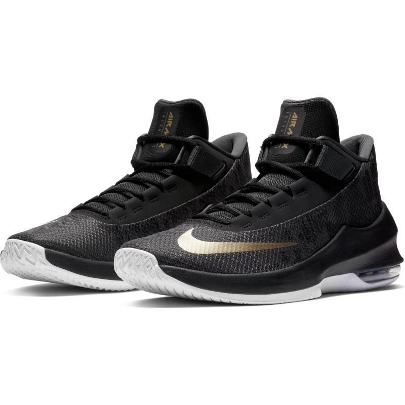 Chaussure de Basketball Nike Air Max Infuriate - Gris/Or, taille du 39 au 47