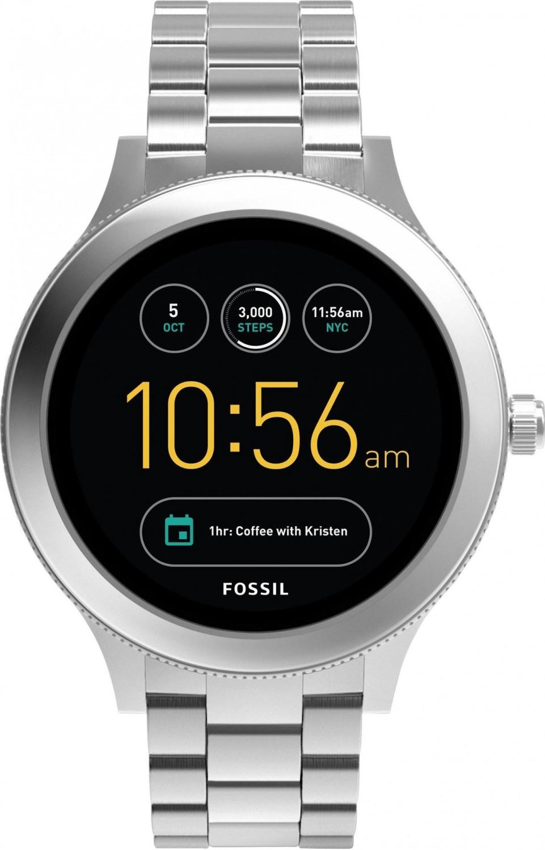 Montre connectée Fossil Q Venture V3 (FTW6003) - SnapDragon Wear 2100, 4 Go, Wear OS, étanche IP67, 42 mm, bracelet en acier inox, argent
