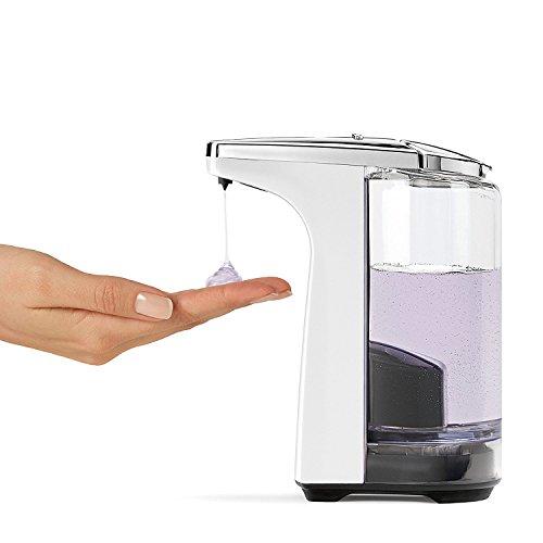 Distributeur à Capteur pour Savon Plastique Blanc Simplehuman ST1018