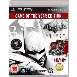 Batman Arkham City - Edition Jeu de l'année sur PS3 [import anglais]