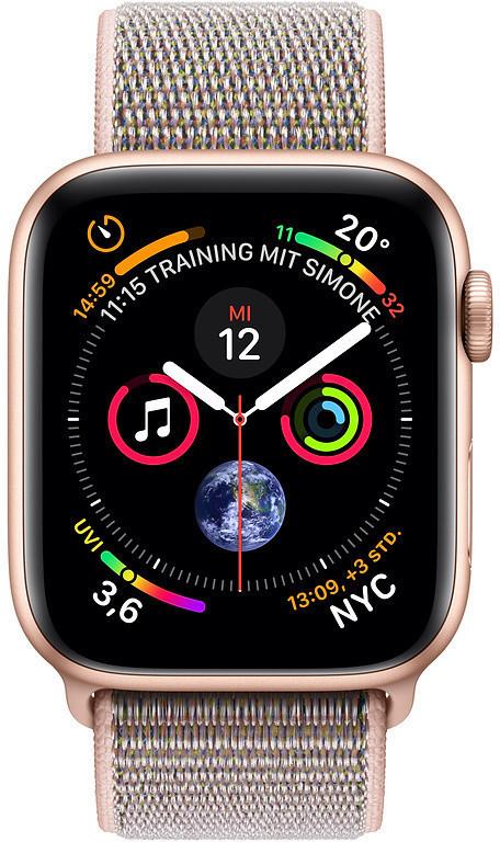 Montre connectée Apple Watch Series 4 - GPS, 40  mm, aluminium, bracelet or boucle sport, sable rose