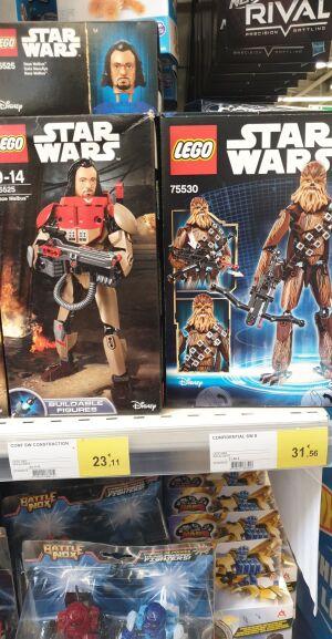 50% de réduction sur les Legos Star Wars - Ex : Chewbacca à 15.78€ (Leclerc Meyzieu 69)