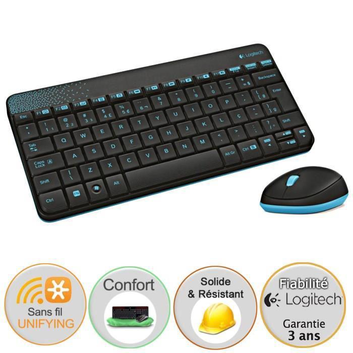 Pack clavier + souris sans fil Logitech MK240