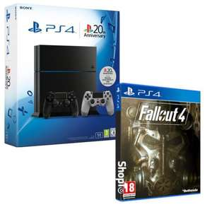 Pack Console Sony PS4 1To + Seconde manette Anniversaire + Jeu Fallout 4