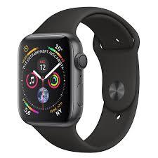 Montre connectée Apple Watch Series 4 - GPS, 44 mm, Bracelet Sport Noir (Frontalier Suisses)
