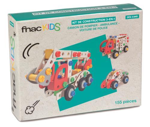 Kit de construction 3-en-1 Fnac Kids - 155 pièces