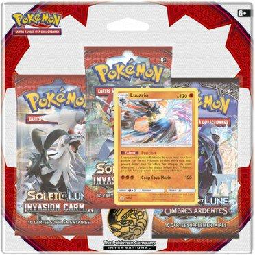 Sélection de packs 3 Boosters Pokémon Soleil & Lune en promotion