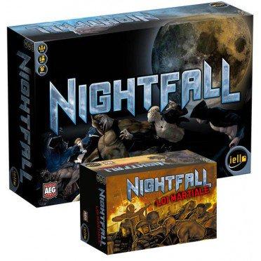 Bundle de jeux de société Iello Nightfall + extension