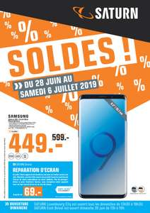 """Smartphone 6.2"""" Samsung Galaxy S9+ - 64 Go, Bleu Corail (Frontaliers Luxembourg)"""