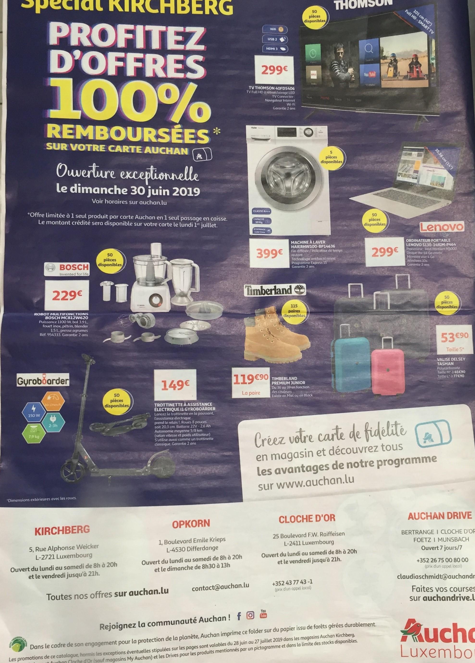 Sélection de produits 100% remboursés sur la carte fidélité (Frontaliers Luxembourg)