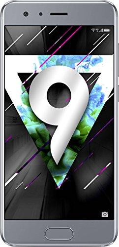 "Smartphone 5"" Honor 9 - Double SIM, 4 Go RAM, 64 Go, gris glacier"
