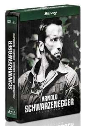 Coffret Blu-ray Arnold Schwarzenegger : Conan le barbare, Commando, Predator et Terminator - Steelbook