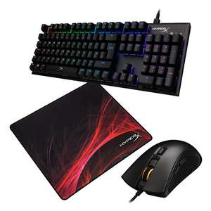 Pack Clavier HyperX Alloy FPS RGB + Souris Pulsefire FPS Pro RGB + Tapis Fury S Speed Edition L