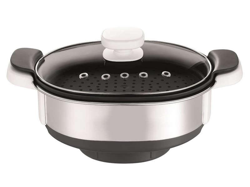 Cuiseur vapeur Moulinex XF384B10 compatible avec le robot de cuisine Companion
