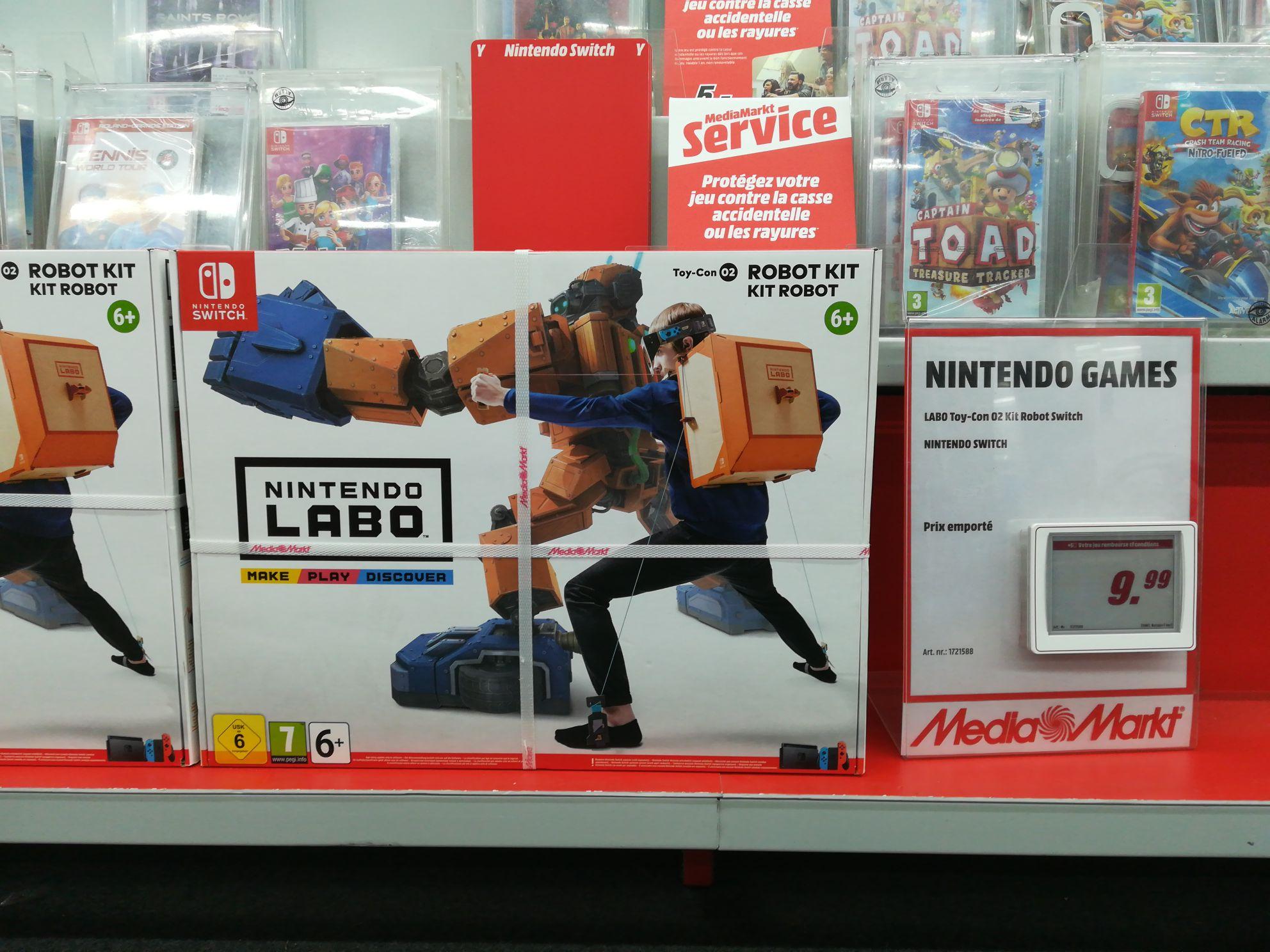 Nintendo LABO Toy-Con 02 Kit Robot sur Nintendo Switch (Frontaliers Belgique)