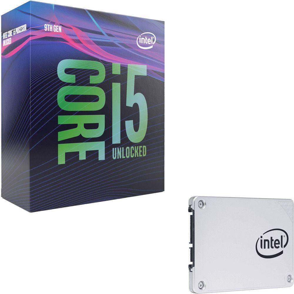 """Processeur Intel i5-9600K (3.7 GHz) + SSD 2.5"""" Intel 545s Series, 128 Go, SATA III"""