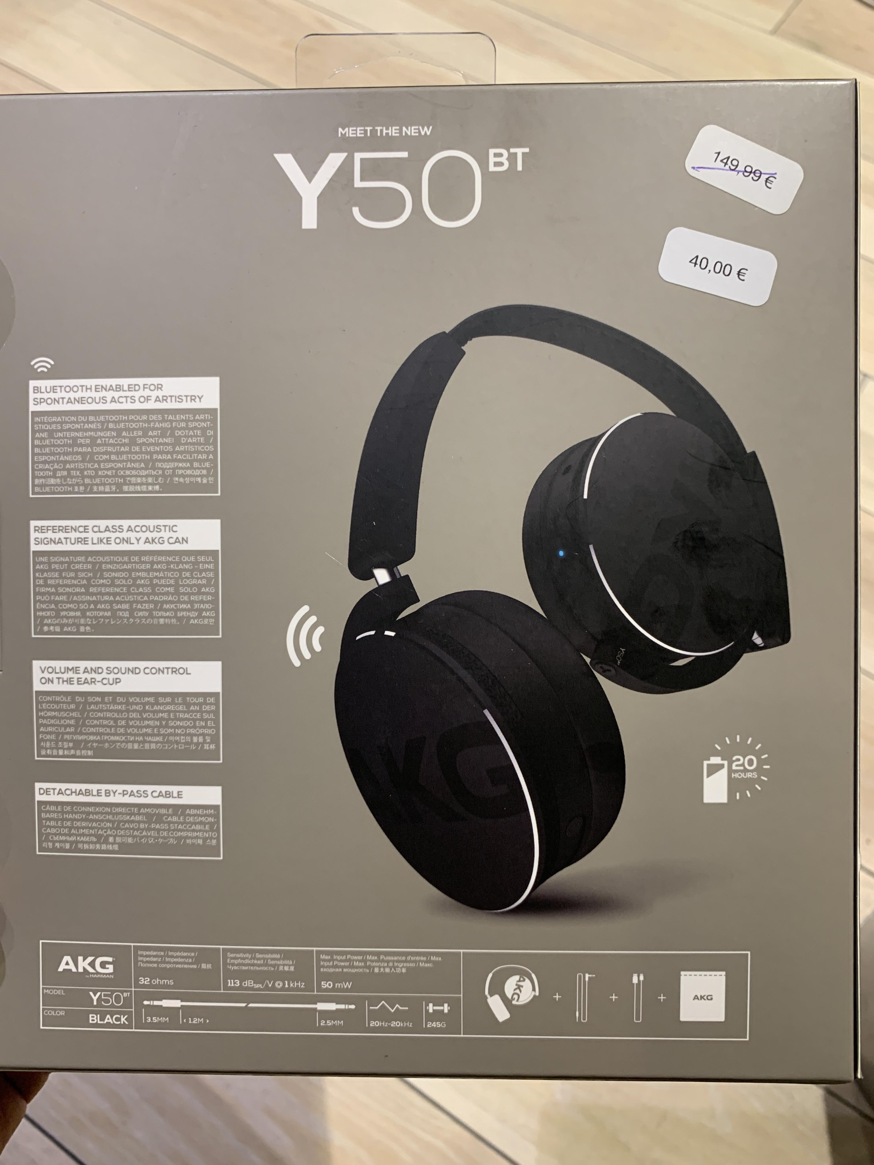 Casque sans-fil et filaire AKG Y50BT