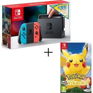 Pack Console Nintendo Switch Néon + 35€ sur Nintendo eShop + Pokémon Let's Go (Evoli ou Pikachu) - 269.99€ pour les CDAV