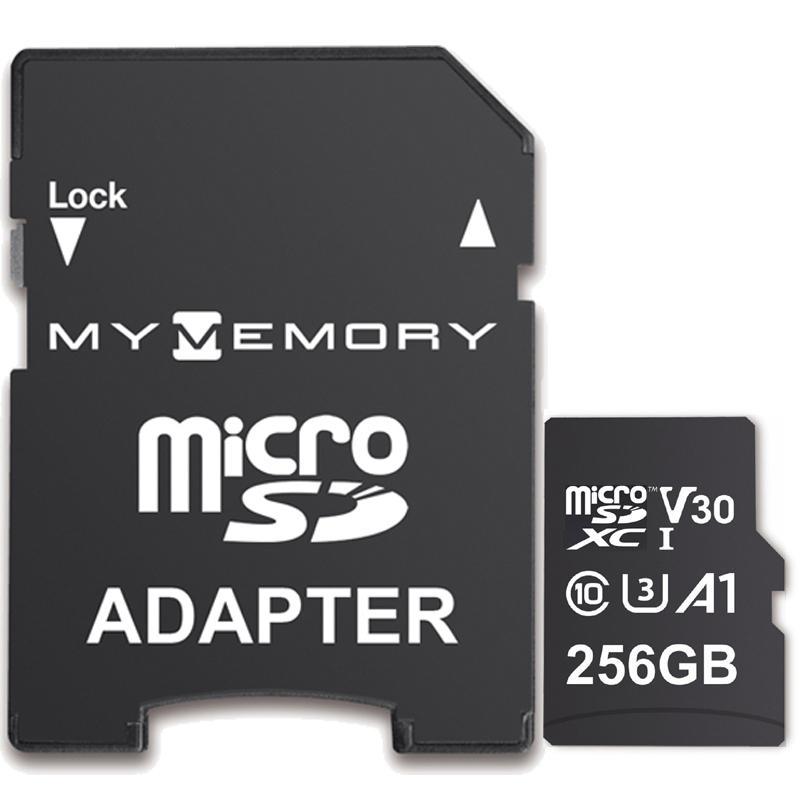 Carte Micro SD (SDXC) MyMemory A1 UHS-1 U3 - 256Go + Adaptateur, 100MB/s