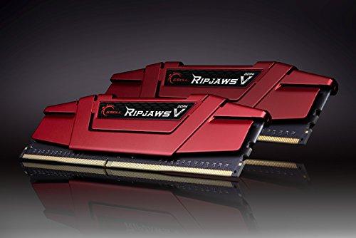 Kit mémoire RAM G.SKILL RipJaws V Séries - 16 Go (2x8 Go), 3000MHz, C15 ,Rouge