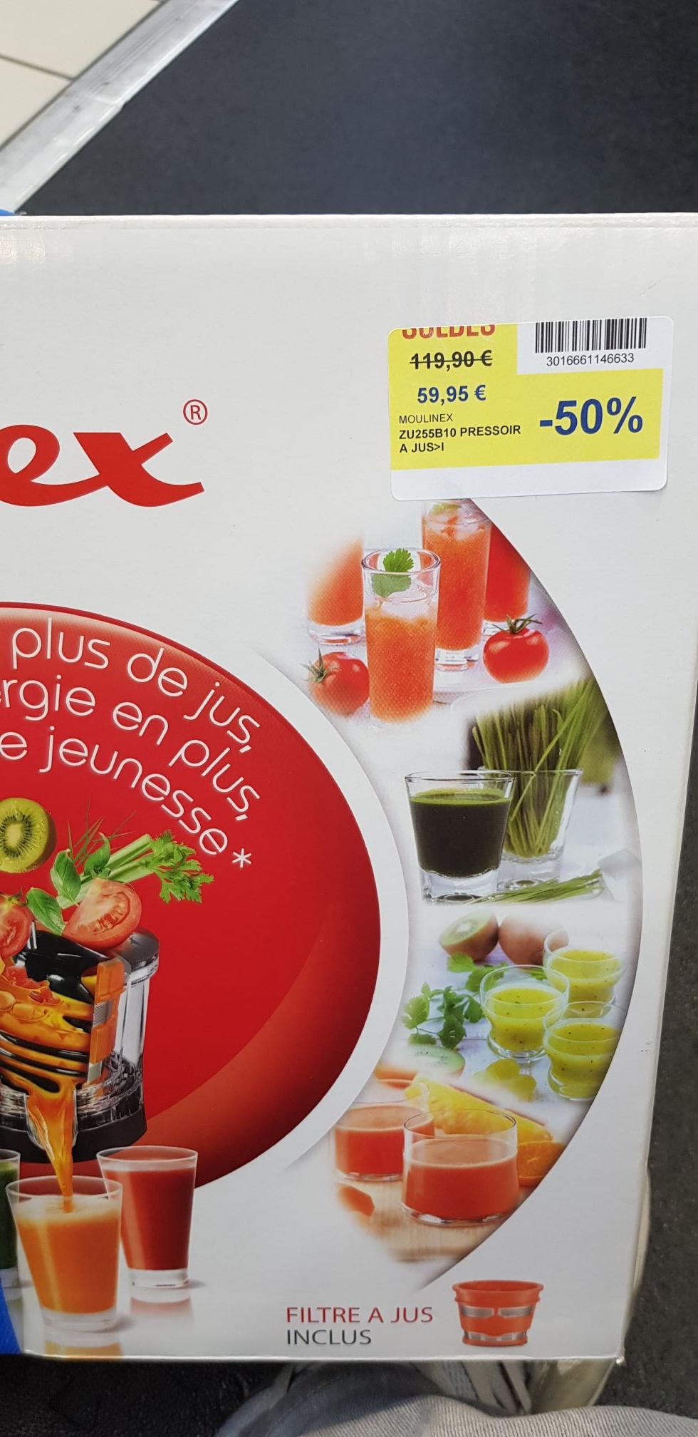 Extracteur de jus Moulinex Infiny Juice ZU255B10 - Ssaint-pierre-des-corps (37)