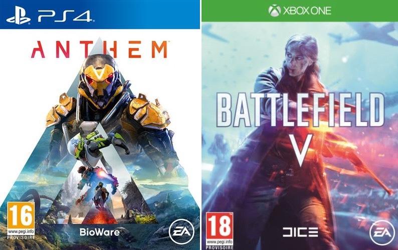 Pack Anthem + Battlefield V sur PS4 ou Xbox One