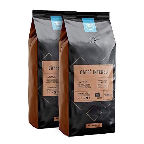 [Membres Prime] Lot de 2 paquets de café en grains Happy Belly Caffè Intenso - 2x500g  (via abonnement)