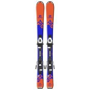Paire de Skis enfant Salomon E Qst Max Jr S + E C5 J75 - Orange et Bleu