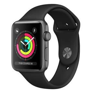 Montre connectée Apple Watch Series 3 - 42 mm, bracelet sport, noir (vendeur tiers)