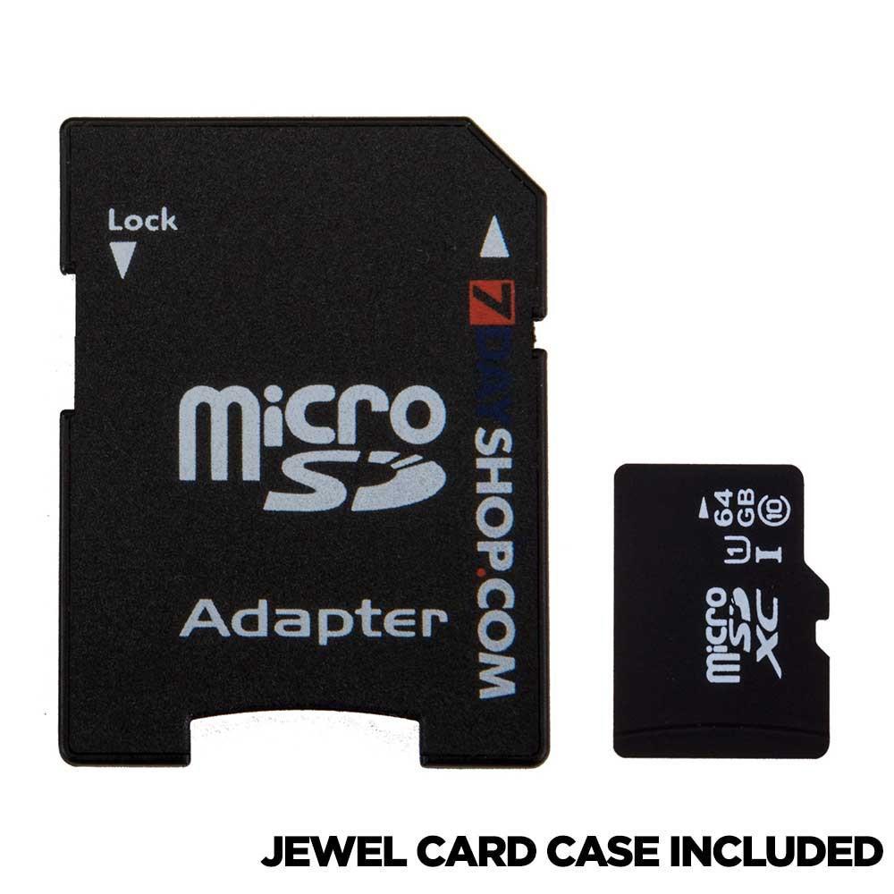Carte mémoire microSDXC 7dayshop Classe 10 UHS-I 45 MB/s - 64 Go avec adaptateur SD