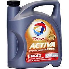 Huile de moteur Total Activa 9000 5W40 - 5L