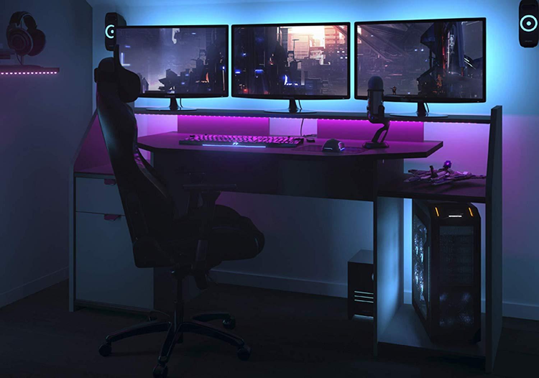 Bureau gamer - Gris Ombre