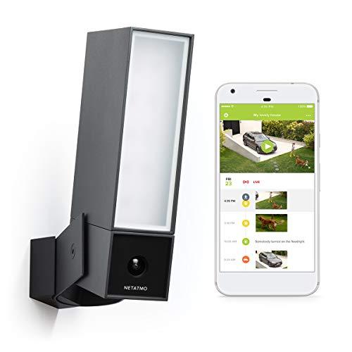 Caméra de Surveillance Extérieure Intelligente Netatmo Presence avec éclairage intégré