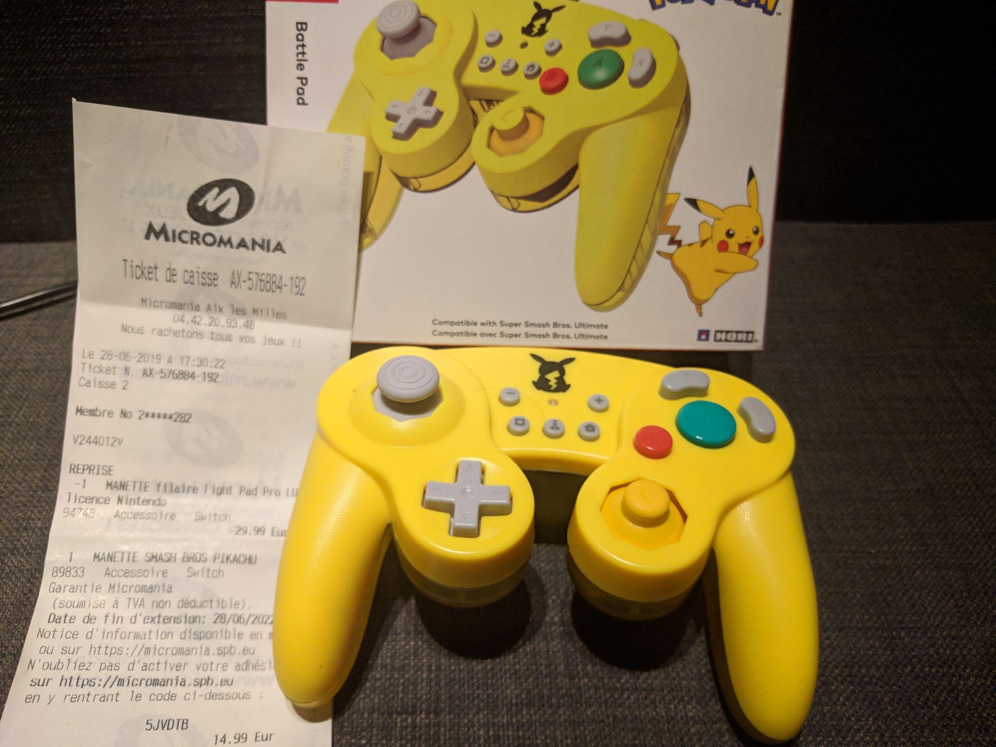Manette filaire Hori Smash Bros Pikachu pour Nintendo Switch - Aix-les-Milles (13)