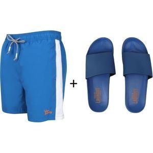 Short de Bain avec Paire de Claquettes Homme Tokyo Laundry - Bleu