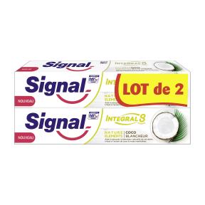Lot de 2 Dentifrices SIGNAL Integral 8 Nature Elements - 75ml