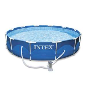 Piscine tubulaire Metal frame INTEX Diam.3.66 m x H.0.76 m