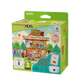 Animal Crossing Happy Home Designer + Lecteur/Enregistreur NFC 3DS + 1 Carte animal crossing et un sac offert