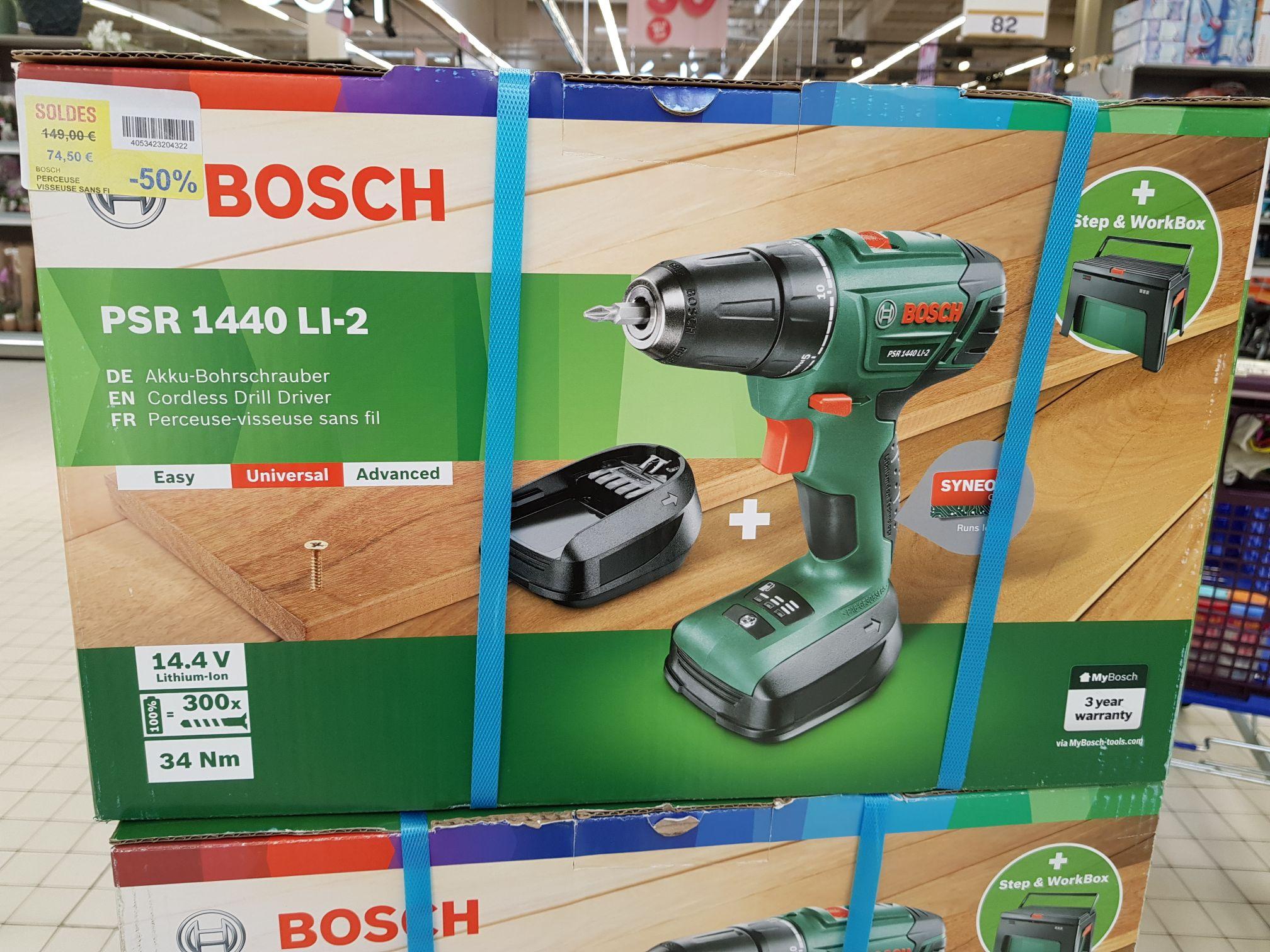 Perceuse-visseuse Sans-fil Bosch PSR1440 LI (14.4V, 2 batteries Lithium-Ion) - Labege (31)